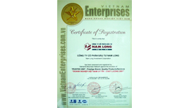 Vietnam Quality Enterprise' Certificate from 2006 to 2013