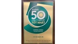 Top 50 Công ty niêm yết tốt nhất Việt Nam do Forbes bình chọn 2019